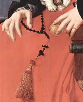 Якопо Понтормо. Портрет дамы в красном платье, фрагмент