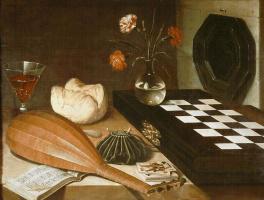 Любин Баугин. Натюрморт с шахматной доской