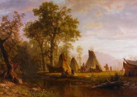 Альберт Бирштадт. Лагерь индейцев