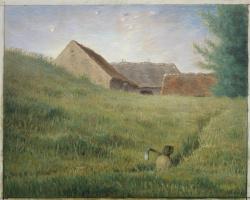 Jean-François Millet. Path through a wheat field