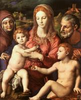 Аньоло Бронзино. Дева с младенцем