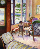 Henri Manguin. Open window with sea views