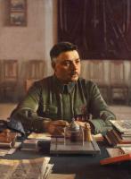 Исаак Израилевич Бродский. Портрет Климента Ворошилова в кабинете