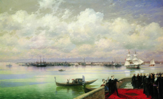 Ivan Aivazovsky. Visit Byron of the Mekhitarist congregation on the island of St. Lazarus in Venice