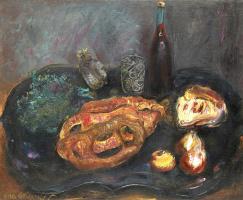 Борис Дмитриевич Григорьев. Натюрморт с хлебом и луком