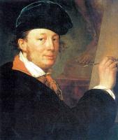 Александр Григорьевич Варнек. Автопортрет в бархатном берете, с рейсфедером