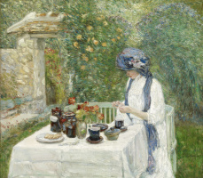 Tea in a French garden