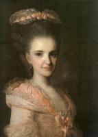 Федор Степанович Рокотов. Портрет неизвестной в розовом платье