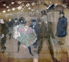 Henri de Toulouse-Lautrec. The Danse of La Goulue and Jacques Renaudin