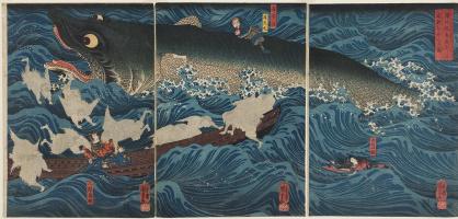 Бывший Император Сутоку из Сануки отправляет своих спасателей на спасение Таметомо