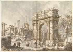 Джованни Антонио Каналь (Каналетто). Триумфальная арка