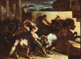 Теодор Жерико. Бег свободных лошадей в Риме (Мосса)
