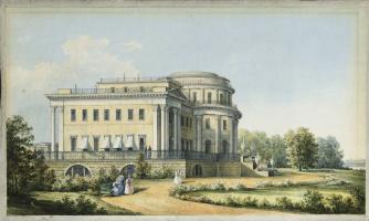 Никанор Григорьевич Чернецов. Вид Александровского дворца в Царском селе. 1839