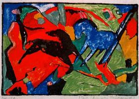 Франц Марк. Две лошади