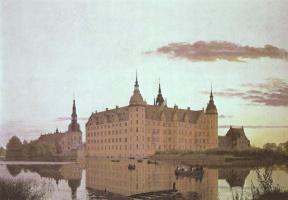 Кристен Кобке. Замок Фредериксборг в вечернем свете