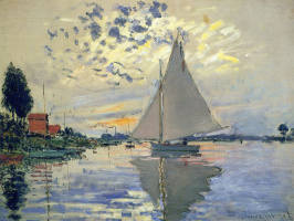 Claude Monet. Sailboat at Petit-Gennevilliers