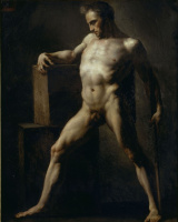 Théodore Géricault. Academic sketch of standing nude