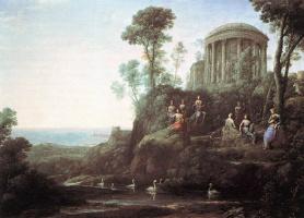 Клод Лоррен. Аполлон и музы на горе Гелион Парнаса