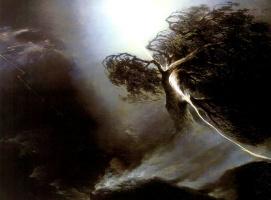 Максим Никифорович Воробьев. Дуб, раздробленный молнией. Аллегория на смерть жены художника