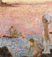 Maurice Denis. Bathers at dusk
