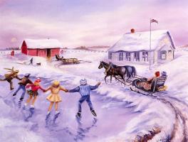 Лиллиан Круш. Катание на льду