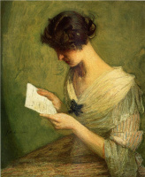 Джулиан Олден Уир. Девушка читает письмо