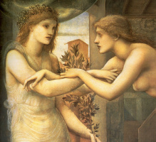 Эдвард Коли Бёрн-Джонс. Пигмалион и Галатея III: Божественные огни (фрагмент)