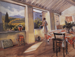 Zinaida Serebryakova. Terrace in Collioure.