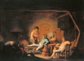 Адриан ван Остаде. Сцена в кабачке