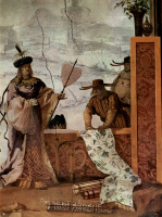 Джованни Доменико Тьеполо. Фрески из виллы Вальмарана в Виченце. Китайский торговец тканями