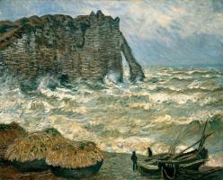 Клод Моне. Волнение моря в Этрете