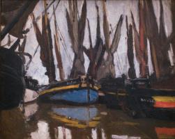 Claude Monet. Fishing boats, Honfleur