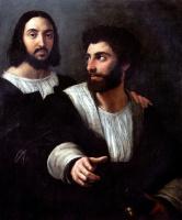 Рафаэль Санти. Автопортрет с другом, учителем фехтования