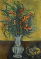 Сюзанна Валадон. Ваза с цветами и чайник
