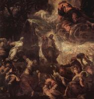 Якопо Тинторетто. Моисей, иссекающий воду из скалы