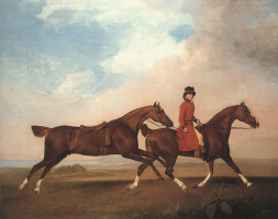 George Stubbs. William Anderson with two racehorses