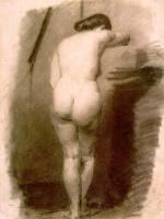 Томас Икинс. Спина стоящей обнаженной