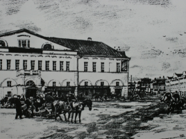 """""""Sergiev Posad"""". Old hotel »Autolithography. State Tretyakov Gallery"""