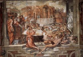 Giorgio Vasari. Paul III Farnese names cardinals