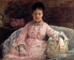 Berthe Morisot. The pink dress