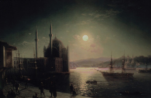 Ivan Aivazovsky. Moonlit night on the Bosphorus
