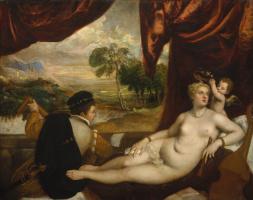 Тициан Вечеллио. Венера и лютнист
