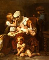 Поль Деларош. Молодая мать и ее дети