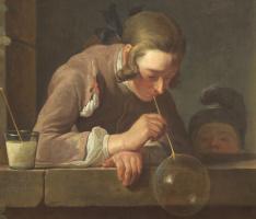 Жан Батист Симеон Шарден. Мыльные пузыри. Фрагмент
