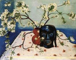 Макс Пехштейн. Натюрморт с ветками цветущей вишни