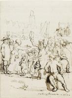 Самюэл ван Хогстратен. Уличная сцена с двумя ссорящимися женщинами