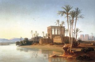 Иоганн Якоб Фрей. Руины в Филе Египет