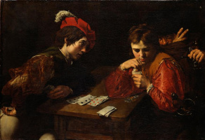 Valentin de Boulogne. Card tricksters