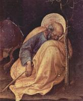 Джентиле да Фабриано. Рождество, деталь: Спящий Иосиф