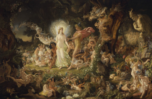 Joseph Noel Paton. The Quarrel of Oberon and Titania